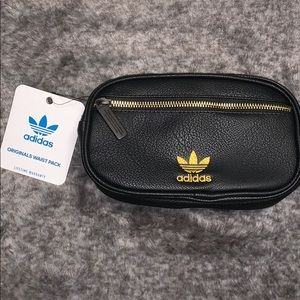ADIDAS Black & Gold Fanny Pack